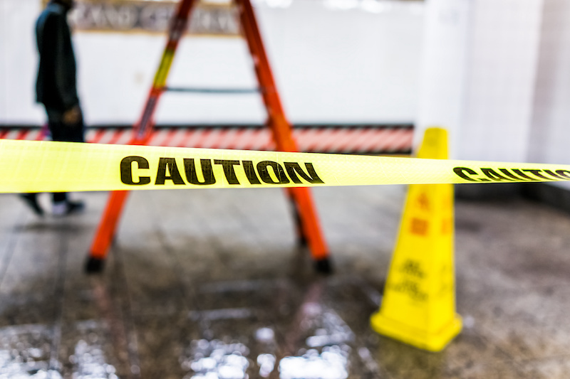 barrier tape at worksite